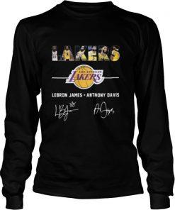 Los angeles lakers lebron james anthony davis signatures shirt