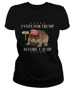 Mouse i vote for trump before i jump lemmings for donald stars  Classic Ladies
