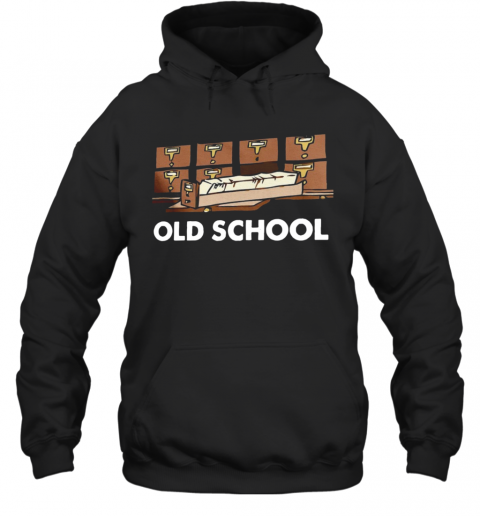 Old School Librarian New T-Shirt Unisex Hoodie