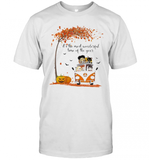 Peace Bus It's The Most Wonderful Time Of The Year Leaves Tree T-Shirt Masswerks Store
