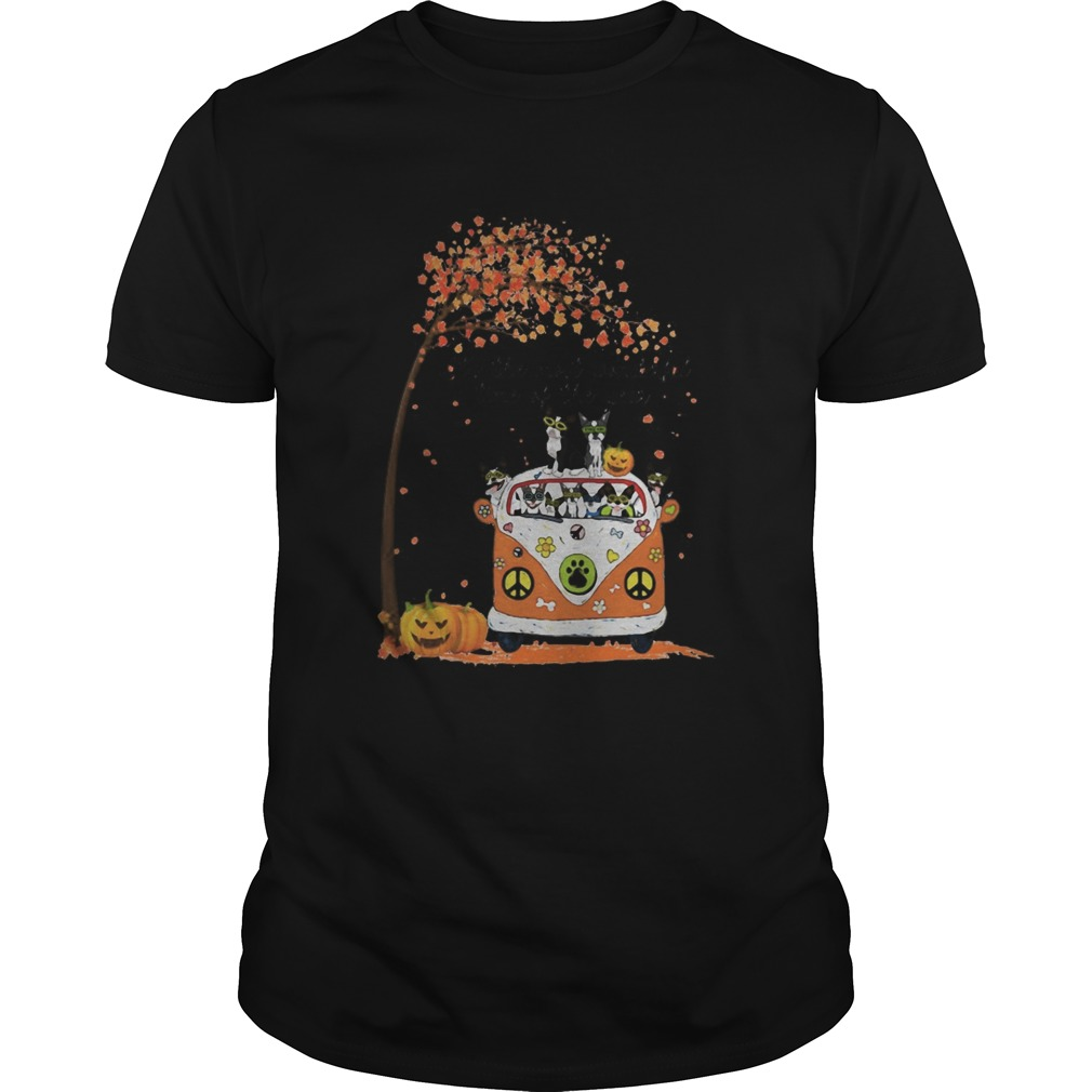 Peace Bus Chihuahua Its The Most Wonderful Time Of The Year Leaves Tree Pumpkins Shirt Masswerks Store