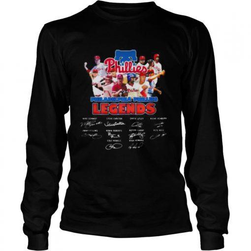 Philadelphia phillies legends baseball signatures shirt