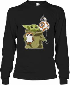 Star Wars Baby Yoda Bb8 And Wampa T-Shirt Long Sleeved T-shirt