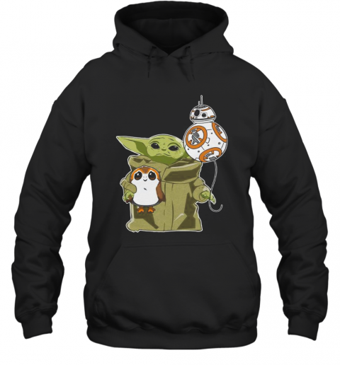 Star Wars Baby Yoda Bb8 And Wampa T-Shirt Unisex Hoodie