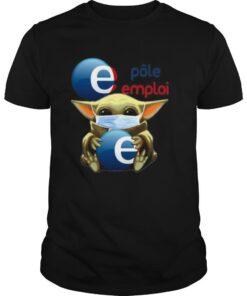 Star wars baby yoda mask hug polo emplai shirt