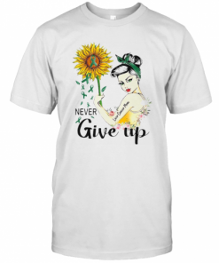 Strong Woman Liver Cancer Mom Never Give Up Sunflower T-Shirt Classic Men's T-shirt