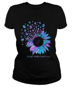 Sunflower Accept Understand Love  Classic Ladies