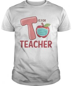 T Is For Teacher Apple Mask  Unisex
