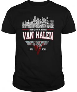 Thank You For The Memories Van Halen 1972 2020 shirt