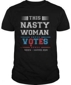 This nasty woman votes joe biden kamala harris 2020 stars  Unisex