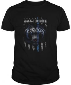 Tigers back the blue american flag independence day  Unisex