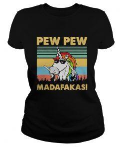 Unicorn pew pew madafakas vintage retro 2020  Classic Ladies