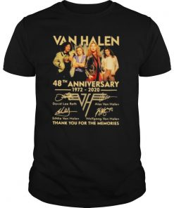 Van halen 48th anniversary 1972 2020 thank you for the memories signatures shirt