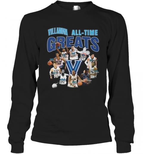 Villanova Wildcats All Time Great Signatures T-Shirt Long Sleeved T-shirt