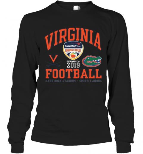 Virginia Cavaliers Vs Florida Gator 2019 Football Captain One Orange Bowl T-Shirt Long Sleeved T-shirt