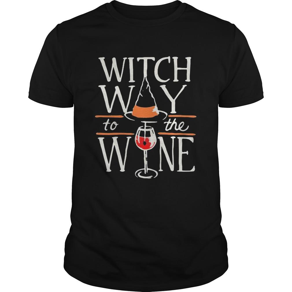 Witch Way To The Wine Halloween Shirt Masswerks Store