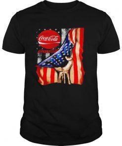 Coca cola american flag shirt