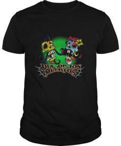 Dia De Los Muertos Day Of The Dead Sugar Skull Couple shirt