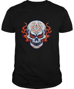Fire Sugar Skull Dia De Muertos Day Of Dead shirt