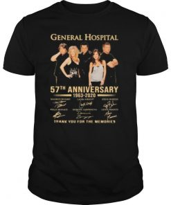 General hospital 57th anniversary 1963 2020 thank for the memories signatures shirt
