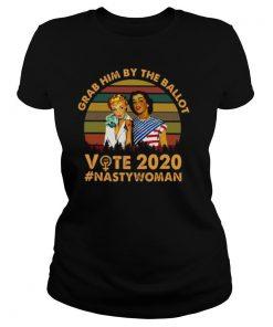 Girls Grab Him By The Ballot Vote 2020 Nasty Woman American Flag shirt