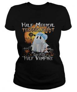 Halloween ghost half medical technologist half vampire  Classic Ladies