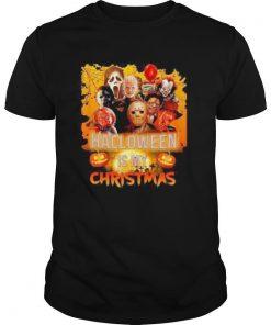 Halloween horror characters is my christmas shirt