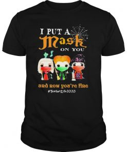 Hocus pocus i put a mask on you and now you're fine teacher life 2020 mask shirt