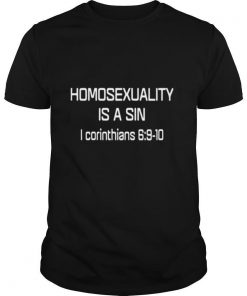 Homosexuality Is A Sin I Corinthians shirt