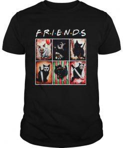 Horror Characters Cat Version Friends shirt