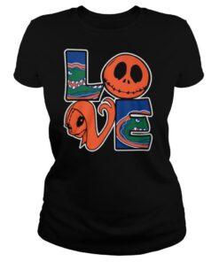 Jack Skellington And Sally Love Florida Gators shirt