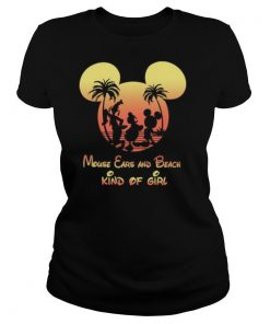 Mickey mouse ears and beach kind of girl shirt