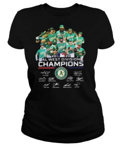 Oakland athletics 2020 al west division champions players signatures shirt