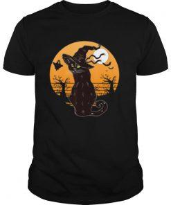 Retro Halloween Black Cat shirt