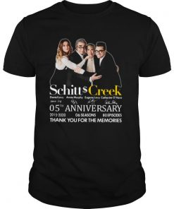 Schitt Creek 05th Anniversary Thank You For The Memories Signature shirt