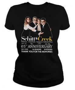 Schitt Creek 05th Anniversary Thank You For The Memories Signature shirt