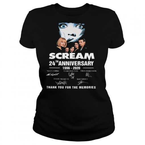 Scream 24th Anniversary 1996 2020 Thank You For The Memories Signatures shirt