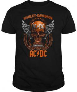 Skull Motor Harley Davidson Cycles AC DC shirt