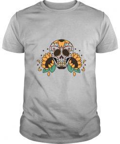 Skull Sunflowers Dia De Los Muertos shirt