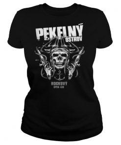 Skull cowboy pekflny ostrov rockovy open air shirt
