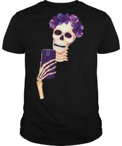 Smiling Girl Skull Dia De Los Muertos Day Of Dead shirt