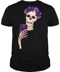Smiling Girl Skull Dia De Los Muertos Day Of Dead shirt
