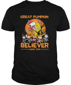 The Peanuts Snoopy Great Pumpkin Believer Since 1966 Halloween shirt