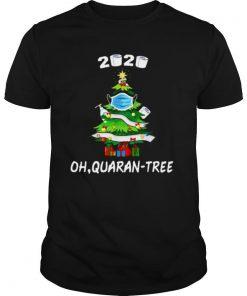 2020 Quarantine Christmas Tree Mask Ornament shirt