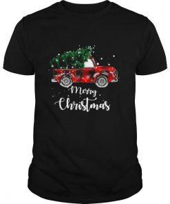 Buffalo Plaid Christmas Tree Red Truck shirt