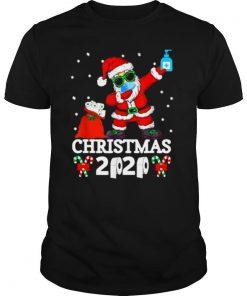 Christmas Quarantine 2020 Pajamas Xmas Dabbing shirt