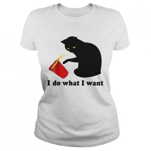 Do What I Want Black Cat Red  Classic Ladies