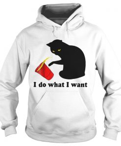 Do What I Want Black Cat Red  Hoodie