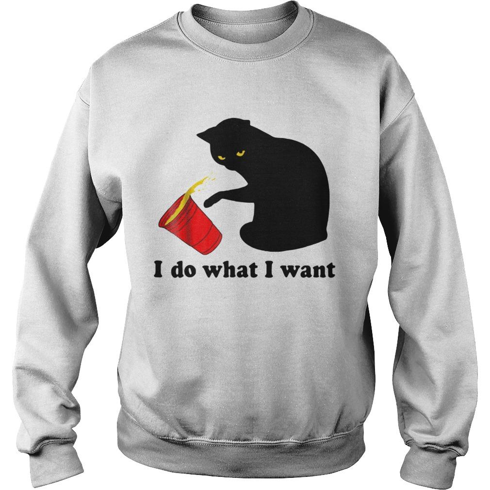 Do What I Want Black Cat Red Sweatshirt