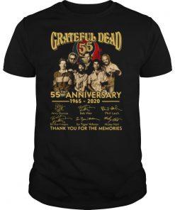 Grateful Dead 55th Anniversary 1965 2020 Signed Thank Memories shirt